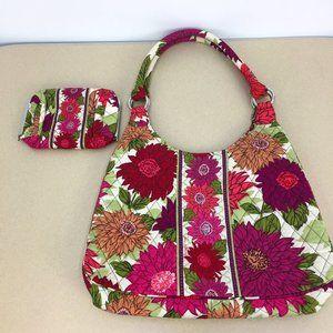 Vera Bradley Hobo Bag & Matching Make Up Clutch